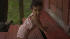 Happy African-American baby Stock Footage