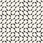 Vector Seamless Black and White Irregular Arcs Pattern Stock Illustration