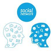 Favorite of program marketer social media  in the form icons Stock Illustration