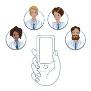 Mobile app for collaboration between medical workers Piirros