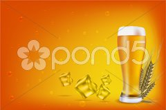 Beer with grain Stock Illustration