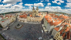 Old Town Square timelapse in Prague, Czech Republic. It is the most well know Stock Footage