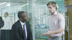 Young multi ethnic  business team working Stock Footage
