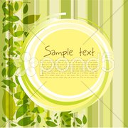 Card with leaves and sample text Stock Illustration