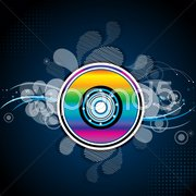 Colorful compact disc Stock Illustration