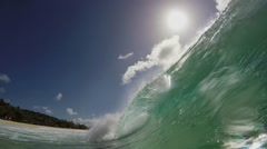 The Great Wave off the coast, slow motion Stock Footage