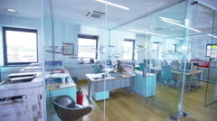 View around a stylish contemporary office space Stock Footage