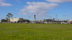 Establishing shot of Louis Armstrong International Airport in New Orleans, Stock Footage