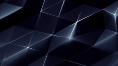 Abstract Triangle Metallic Background Random Motion, 3d Loopable Animation 4k Stock Footage