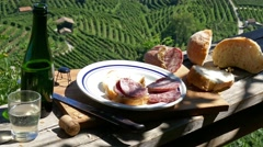 Prosecco country - Traditional snack - Motion view Stock Footage