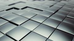 Abstract Metallic Cubes Random Motion, 3d Loopable Animation 4k Stock Footage