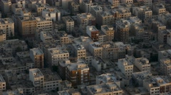 Aerial drone view of apartments in Tehran the capital city of Iran Stock Footage