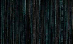 Abstract cyberspace with digital binary lines Stock Illustration