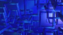 Futuristic intro 3d concept Stock Footage