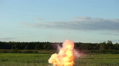 Fireball explosion with sparks and smoke Stock Footage