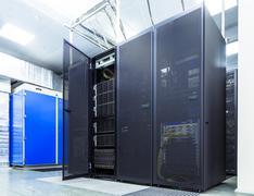 Modern network and telecommunication technology computer concept: server room in Kuvituskuvat