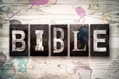 Bible Concept Metal Letterpress Type Stock Illustration