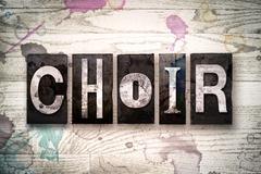 Choir Concept Metal Letterpress Type Stock Illustration