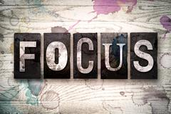 Focus Concept Metal Letterpress Type Stock Illustration