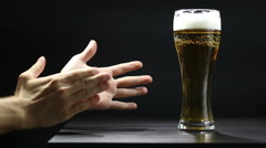 Applause for a good beer Stock Footage