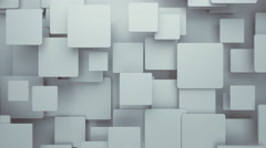 Abstract Geometric Rectangles Background Random Motion, 3d Loopable Animation 4k Stock Footage