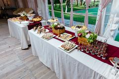 Catering service. Restaurant table with food Kuvituskuvat