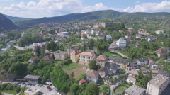 Jajce, Bosnia and Hercegovina, Old town Jace and medieaval Castle. Stock Footage