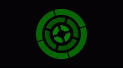 Loading screen circular, green on black background - 4k 30fps loop - video te Stock Footage