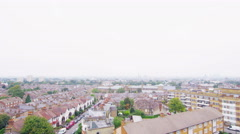4K High angle view of a residential area in a suburb of London, UK Stock Footage