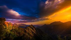 View from Generals Highway in Sequoia National Park near Amphitheater Point Stock Photos