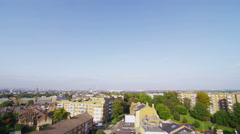 4K High angle panoramic view of a residential area in a suburb of London, UK Stock Footage