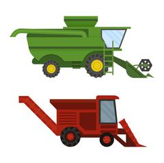 Vehicle tractor farm vector Stock Illustration