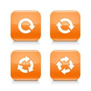 Orange icon refresh reload, rotation, repeat sign Stock Illustration