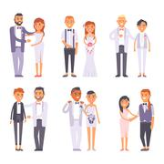 Wedding couple vector people Stock Illustration