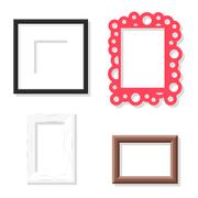 Photo frame vector set Stock Illustration