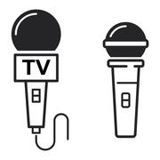 Microphone vector icon illustration - stock illustration
