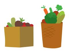Vegetable box vector illustration Stock Illustration