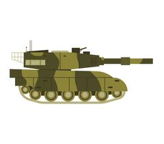 Tank isolated vector illustration Stock Illustration