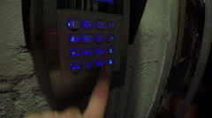 An apartment door buzzer with multiple rows and intercom Stock Footage