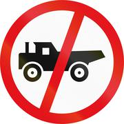 Road sign used in the African country of Botswana - Construction vehicles pro Stock Illustration