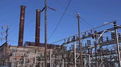 An old and run down power station is given a new lease on life in New Orleans. Stock Footage