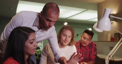 Young students learning I.T. skills at an adult education center Stock Footage