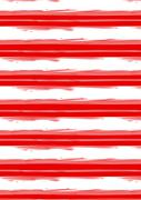 Distressed red and white stripe repeat pattern Stock Illustration
