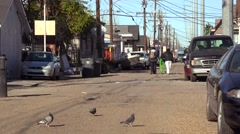 People walk on the street in an african american neighborhood in New Orleans, Stock Footage
