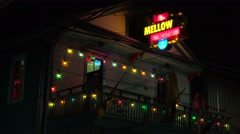 The Mellow Mushroom bar in New Orleans. Stock Footage