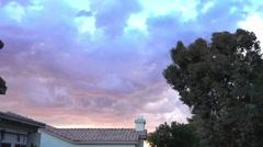Ominous Storm Clouds Over Phoenix Residential Neighborhood Stock Footage