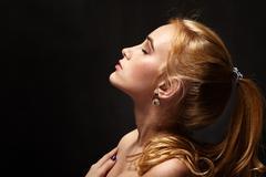 Sensual dreaming woman Stock Photos