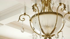 Chandeliers in White Hall Stock Footage