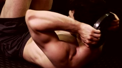 Abdominal Crunch Exercise Stock Footage