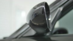 Cover for rear-view mirror of automobile Stock Footage